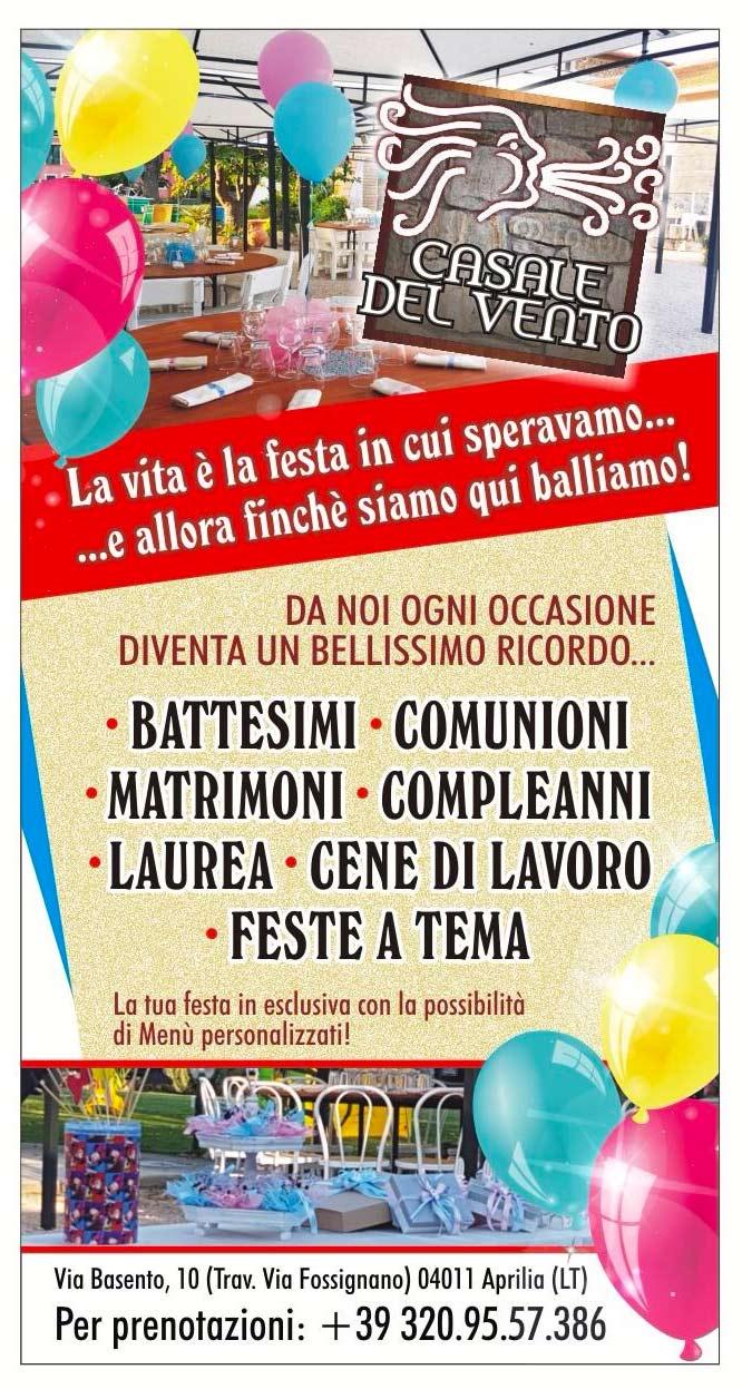 feste comunione cresima Aprilia